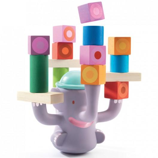 Bigboum El Elefante Equilibrista - juego de equilibrio de madera