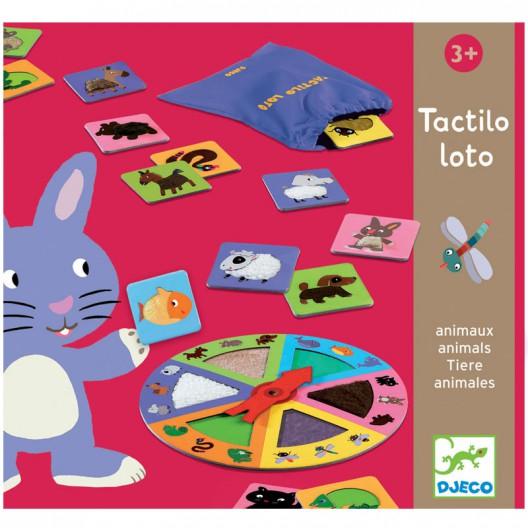 Tactilo Loto Animales - Juego de descubrimiento táctil