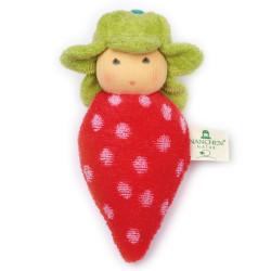 Sonajero de algodón orgánico - Fresa
