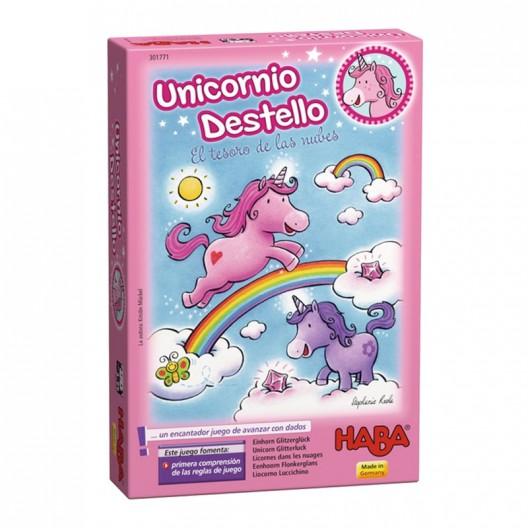 Unicornio Destello: El tesoro de las Nubes - primer juego de dados