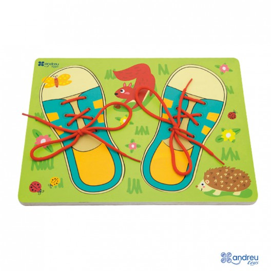 Encaje de madera - Ata tus zapatos
