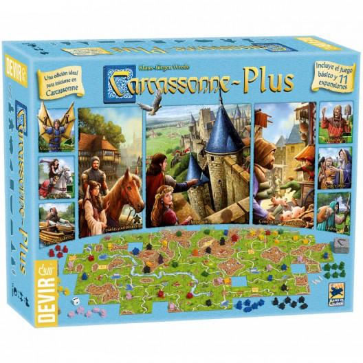 Carcassonne Plus con 11 expansiones ed. 2017 - Juego de estratégia para 6 jugadores