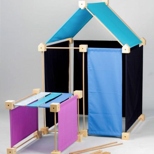 Trígonos Family PC gama azul - juego de construción creativo