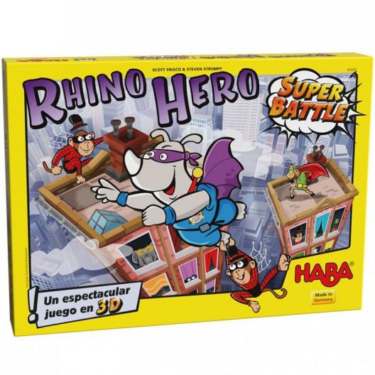 Rhino Hero Super Battle versión española - habilidoso juego de cartas en 3D para 2-4 jugadores