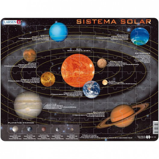 Puzle Educativo Larsen 70 piezas - Sistema Solar (castellà)
