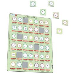 Puzle Educativo Larsen 42 piezas - Rellotge (Catalán)