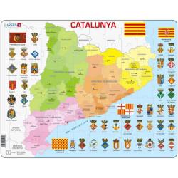 Puzle Educativo Larsen 70 piezas - Mapa Catalunya Política (catalán)