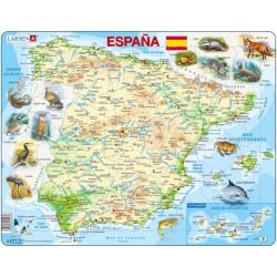 Puzle Educativo Larsen 58 piezas - Mapa España Física