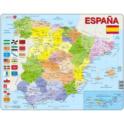 Puzle Educativo Larsen 70 piezas - Mapa España Política