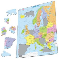 Puzle Educativo Larsen 37 piezas - Mapa Europa Política