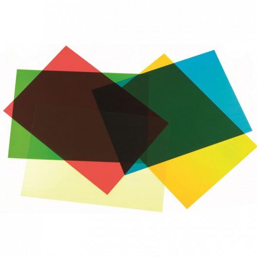 Láminas de colores translúcidos A4