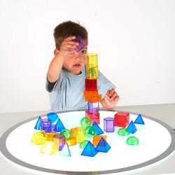 Formas Geométricas Translúcidas 3D