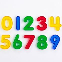 Números transparentes de colores - del 0 al 9