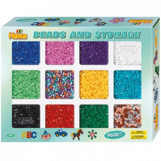 Caja regalo perlas y organizador - 9600 perlas Hama MIDI