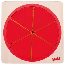 Puzle circular de madera con 6 capas - 21 pzas