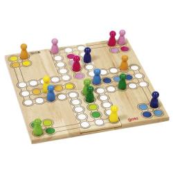 Ludo - juego de parchís de madera con tablero modificable