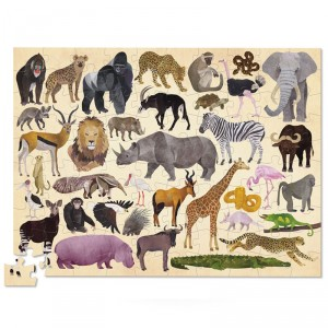 Puzzle Thirty Six Animales salvajes - 100 pzas.