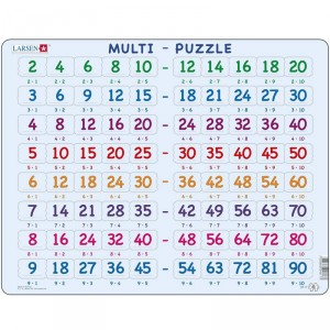 Puzle Educativo Larsen 80 piezas - Tabla de multiplicar