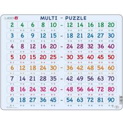 Puzle Educativo Larsen 80 piezas - Tabla de multiplicar