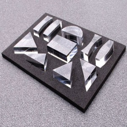 Set óptico de 10 prismas en metracrilato