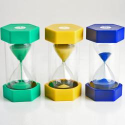 Set 3 relojes de arena - 1, 3 y 5 minutos