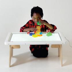 Soporte plagable de madera para mesa de luz  A2