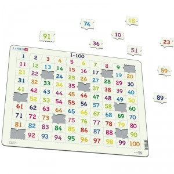 Puzle Educativo Larsen 100 piezas - Del 1 al 100
