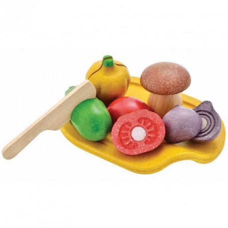 Bandeja de verduras para cortar con bandeja