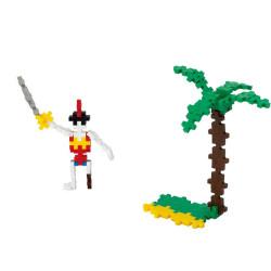 Plus-Plus Mini Basic Pirata 70 piezas - juguete de construcción