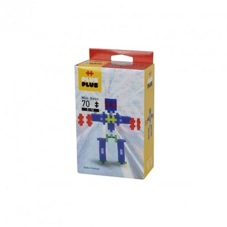 Plus-Plus Mini Neón Robot 70 piezas - juguete de construcción