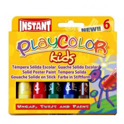 Caja surtido 6 PlayColor One 10g - Témpera sólida