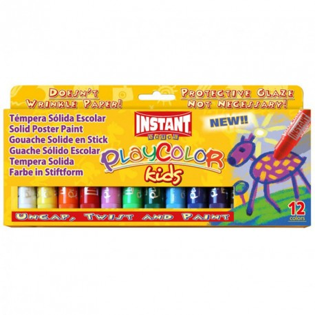 Caja surtido 12 PlayColor One 10g - Témpera sólida
