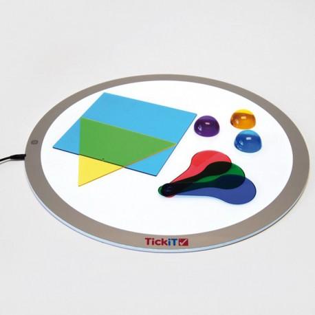 Mesa de Luz Led portátil redonda 70cm - nuevas prestaciones