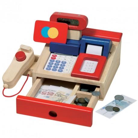 Caja registradora moderna de madera