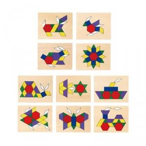 Caja de Formas Geométricas de madera con plantillas