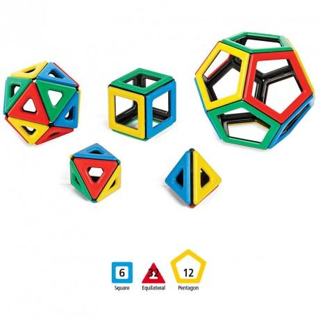 Magnetic Polydron 50 piezas imantadas - sólidos platónicos
