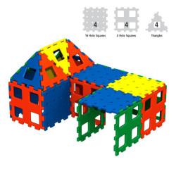 Polydron XL set 1 básico de 12 piezas - juguete de formas geométricas