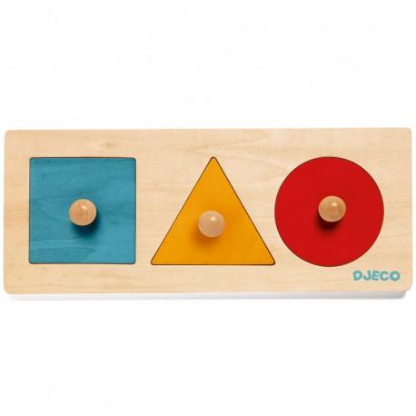 Puzzle encajable de madera Forma Basic - 3  pzas.