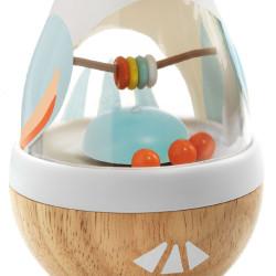 Baby Poli peonza tentesolo y sonajero de madera