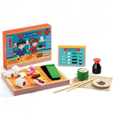 Aki y Maki - comida de fieltro y madera para cocinitas