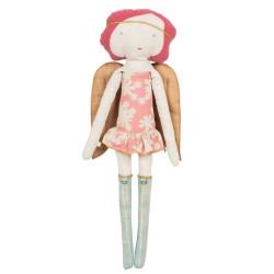 Ángel rosa calendario de Adviento - muñeca de tela