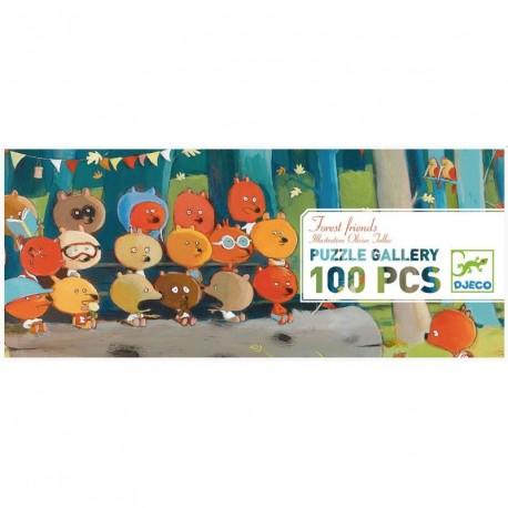 Puzzle Gallery Forest Friends - 100 pzas.