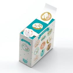 100 Pegatinas Lucille en cajita dispensadora Lovely Paper