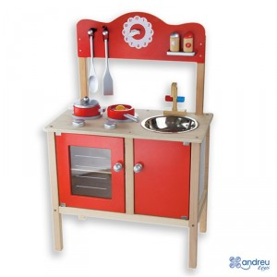 Cocina de madera Funny con accesorios