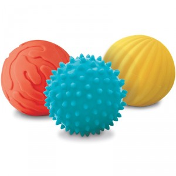 3 pelotas sensoriales pequeñas Ludi
