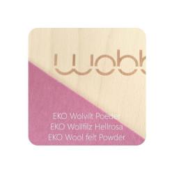 Wobbel Board Original - tabla curva de madera decapado blanco con fieltro rosa maquillaje