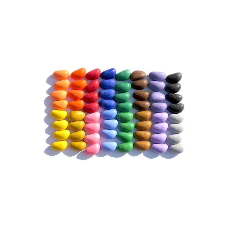 Crayon rocks ceras para pintar 64 piedras 16 colores for Donde conseguir piedras para pintar