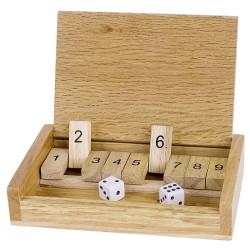 Cierra la caja Mini - juego de cálculo con dados para dos o más jugadores
