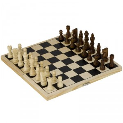 Ajedrez Plegable de madera - juego de estratégia para 2 jugadores