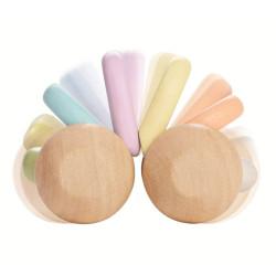 Baby car colores pastel - cochecito de madera
